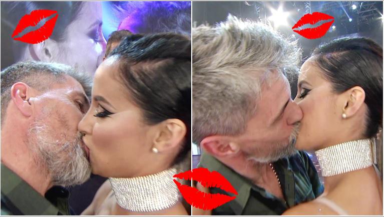 El apasionado beso de Chato Prada a Lourdes Sánchez en ShowMatch