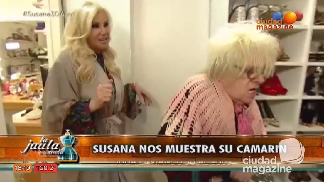 Susana Gímenez abrió su camarín