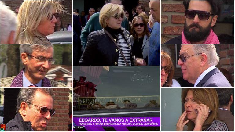 Familiares, amigos y compañeros despidieron los restos de Edgardo Antoñana