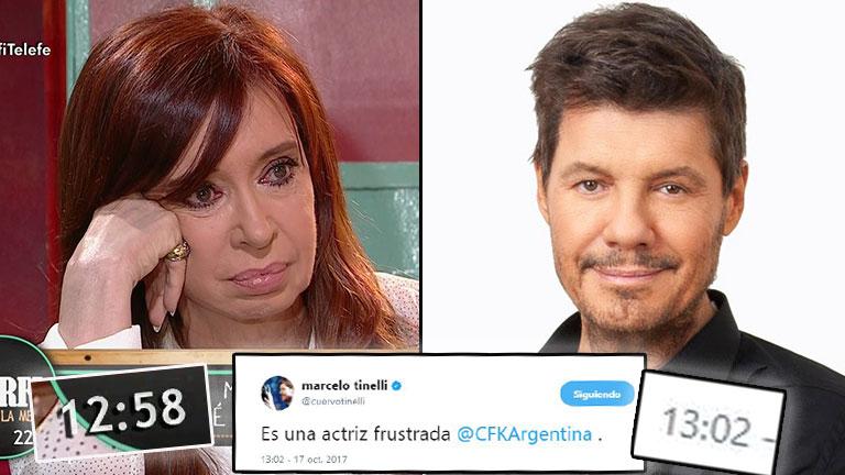 Cristina Fernández pasó por Morfi: su emoción al final de la nota y un picante tweet de Marcelo Tinelli
