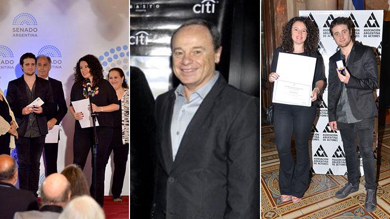 Pablo Codevilla, galardonado en el Congreso Nacional por sus 50 años en la Asociación Argentina de Actores