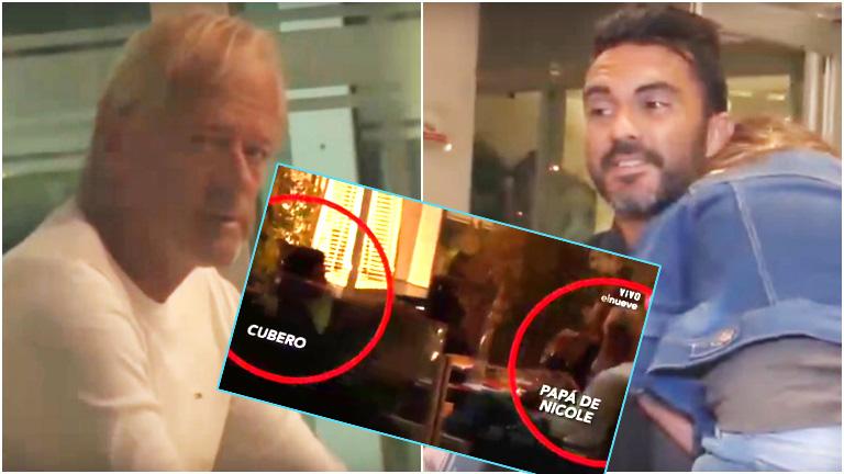 El encuentro de Fabián Cubero con el papá de Nicole Neumann en un restaurante