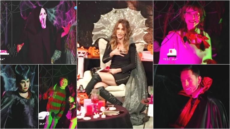 El look de Verónica Lozano y los panelistas de Cortá por Lozano para Halloween