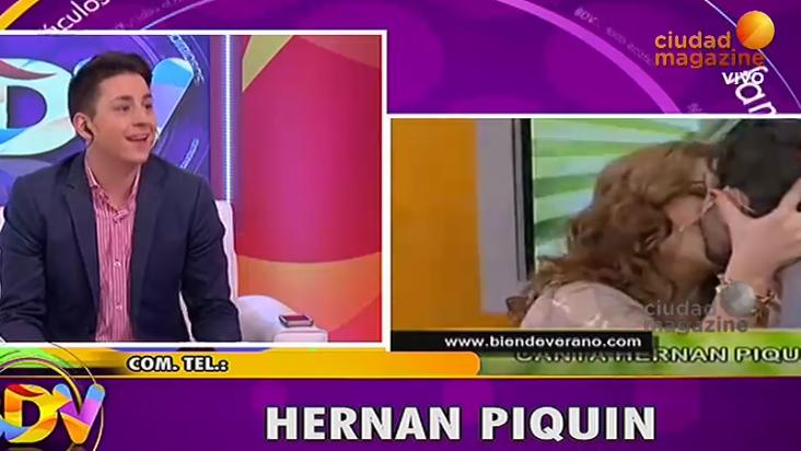 Hernán Piquín y Andrea Taboada recordaron su gran beso