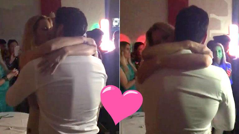 El apasionado beso de Nicole Neumann y Facundo Moyano