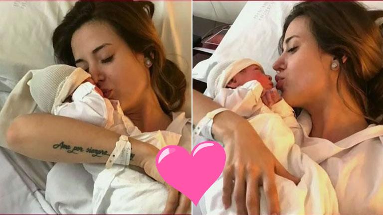 ¡Presentación oficial! Jésica Cirio habló desde la clínica con Chloé en su pecho: