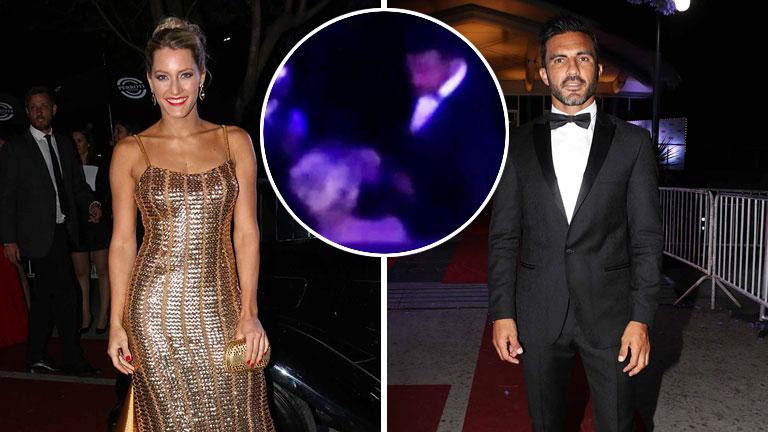 Fabián Cubero y Micaela Viciconte, muy juntos en la gala de la revista Caras