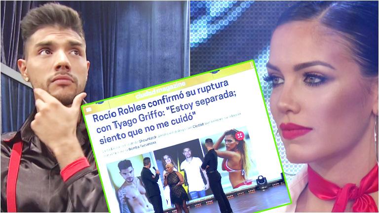 Tyago Griffo habló de su separación de Rocío Robles en ShowMatch
