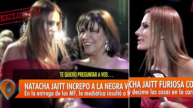 La catarata de insultos de Natacha Jaitt a la Negra Vernaci en la alfombra roja de los Martín Fierro de Radio