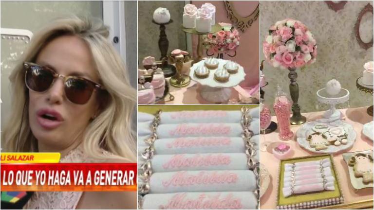 La felicidad de Luciana Salazar en el baby shower de su hija: