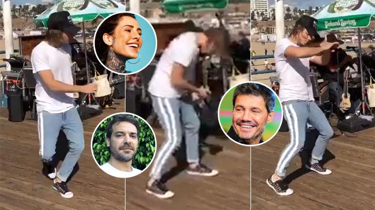 El desopilante video del baile de Franco Masini en California