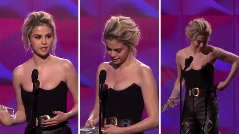 La emoción de Selena Gomez al recibir el premio Billboard a La Mujer del Año