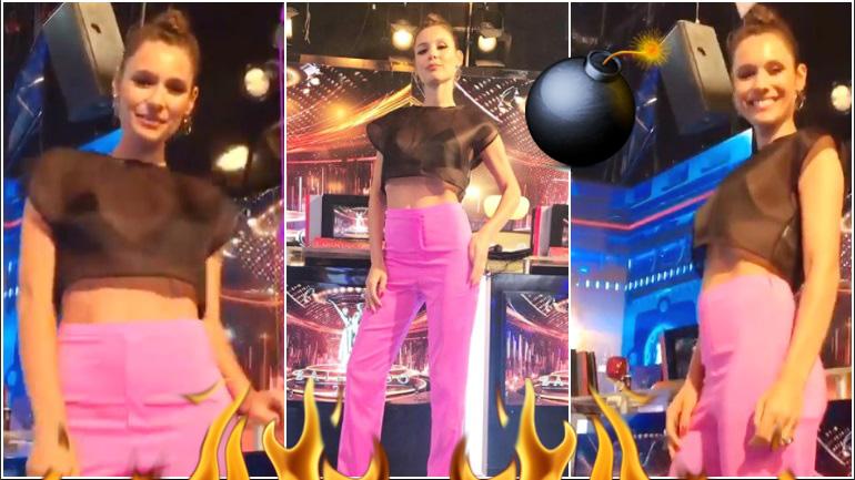 El outfit súper sexy y con transparencias de Pampita en ShowMatch