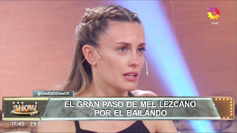 Melina Lezcano, quebrada en Este es el Show tras ser eliminada de Bailando 2017