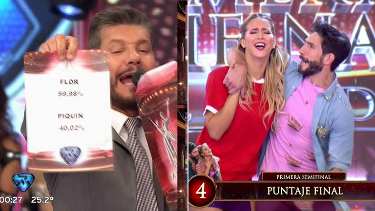Flor Vigna ganó el voto telefónico y empató la primera semifinal de Bailando 2017, tras ir perdiendo 4 a 0 con Piquín