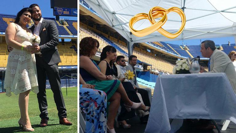 Doce parejas porteñas salieron sorteadas para casarse en La Bombonera