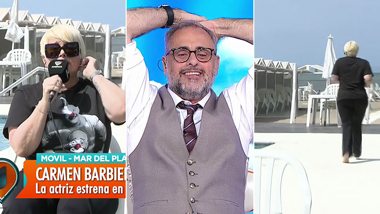 Carmen Barbieri sorprendió a Jorge Rial en plena nota