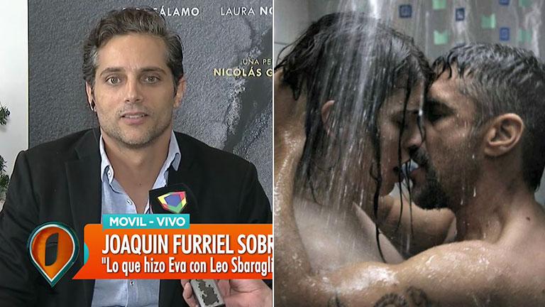 Joaquín Furriel habló de las fuertes escenas de sexo de Eva de Dominici