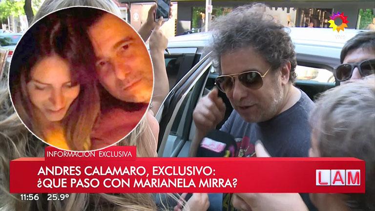 La singular respuesta de Andrés Calamaro sobre el rumor de romance con Marianela Mirra