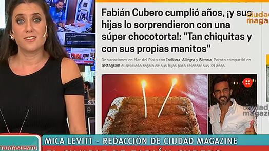 Los detalles del cumple de Fabián Cubero