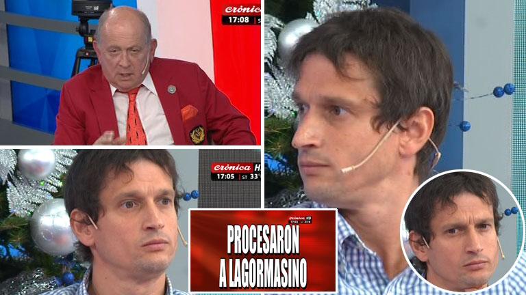 La reacción de Diego Lagomarsino cuando le comunicaron en Crónica TV en vivo que fue procesado