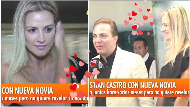 Cristian Castro presentó a su nueva novia, con quien sale desde hace unos meses