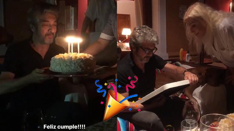 El festejo de cumple de Darín con Susana Giménez