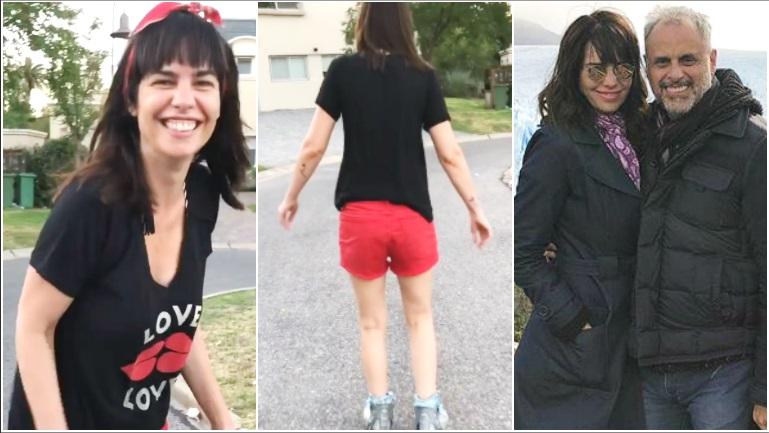 El video de Jorge Rial filmando a su novia mientras anda en rollers