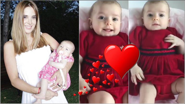 El tierno video de Jésica Cirio con Chloé, su beba de casi 3 meses