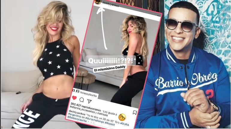 El baile sexy de Laurita Fernández... ¡que reinstagrameó Daddy Yankee!