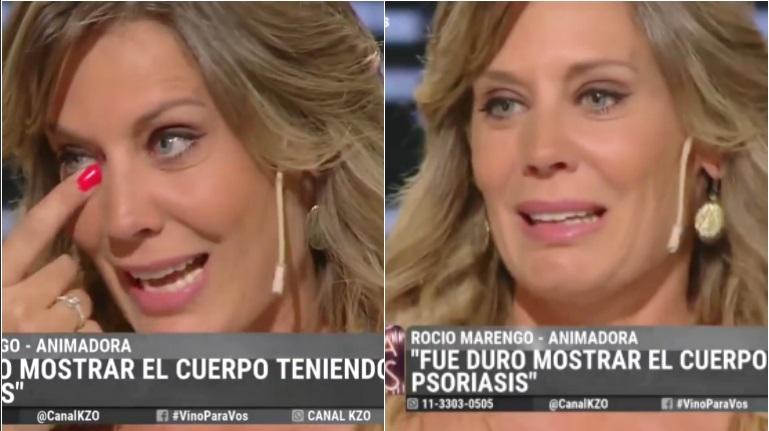 El desconsolado llanto de Rocío Marengo al hablar del comienzo de su enfermedad