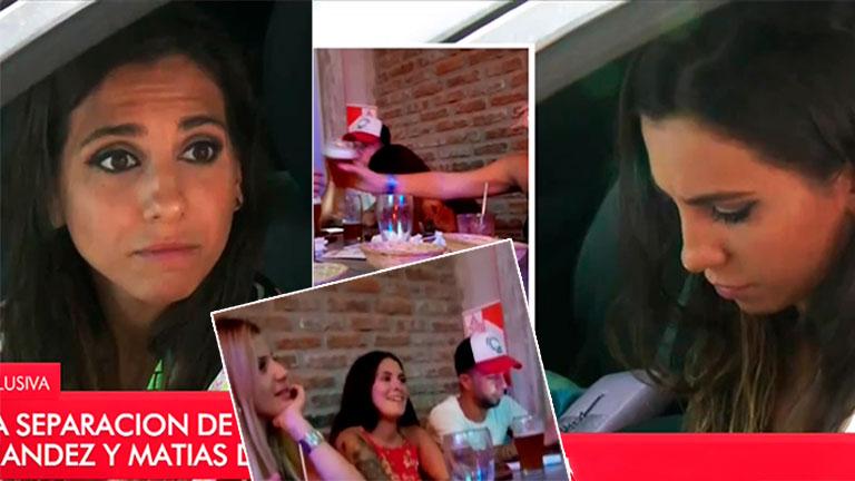 La reacción de Cinthia Fernández al ver en plena nota las fotos de Defederico con un grupo de mujeres en un bar