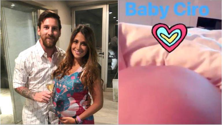 Lionel Messi anunció que su tercer hijo se llamará Ciro