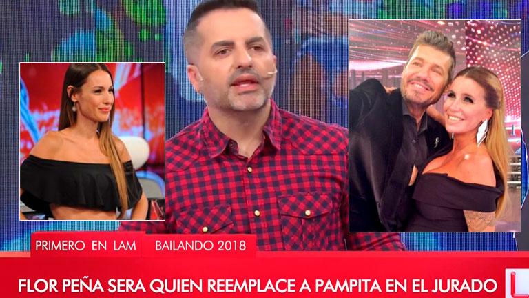 De Brito confirmó que Flor Peña reemplazará a Pampita en el jurado del Bailando