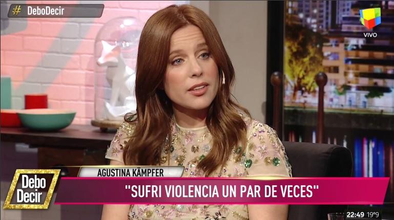 Agustina Kämpfer reveló haber sido víctima de violencia de género por parte de exparejas
