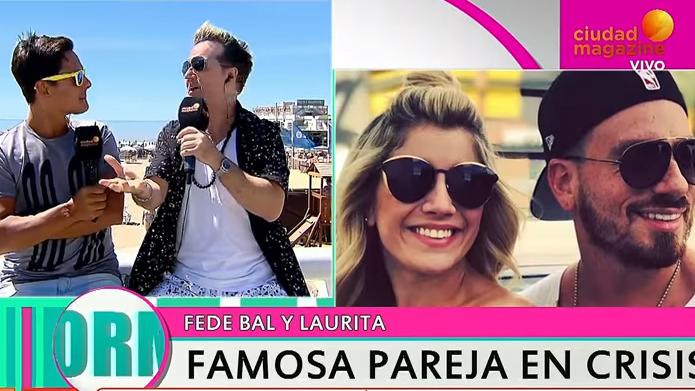 Fede Bal y Laurita Fernández,  peleados