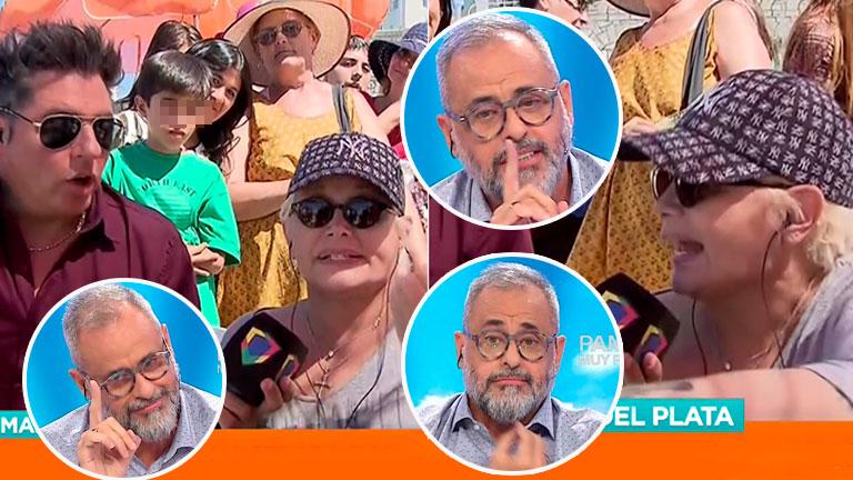 Fuerte enojo de Carmen Barbieri con Jorge Rial en pleno móvil