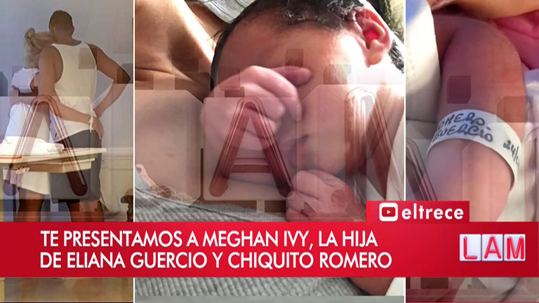 """Eliana Guercio explicó  por qué con Sergio Romero llamaron Meghan Ivy a su tercera hija: """"Me encantó cómo se veía escrito"""""""
