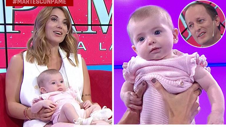 Jésica Cirio y Martín Insaurralde presentaron a Chloé en Pamela a la Tarde