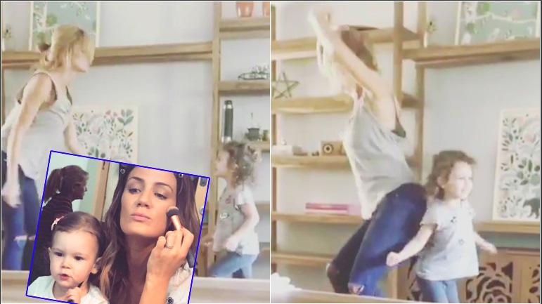 El divertido video de Paula Chaves bailando con su hija