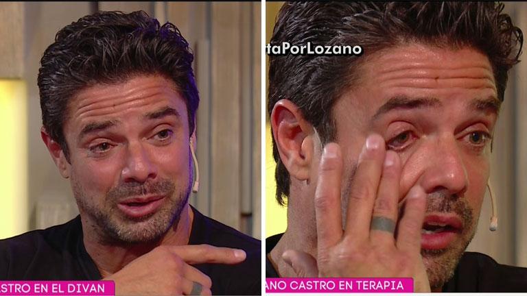 Luciano Castro lloró al hablar de su familia