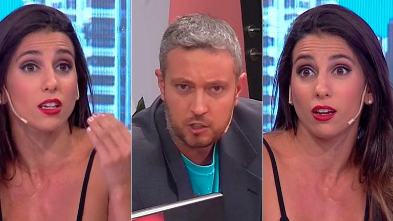 Fuerte cruce entre Cinthia Fernández y el periodista deportivo Pablo Carrozza