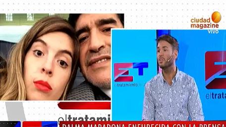 Dalma Maradona furiosa con la prensa en el día de su casamiento