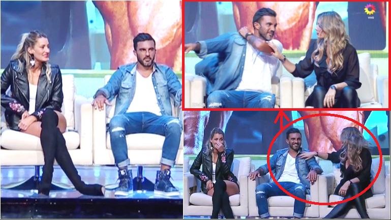 La primera aparición de Mica Viciconte y Cubero en un programa de TV tras blanquear su noviazgo... ¡y el toqueteo de Rocío Marengo al futbolista!