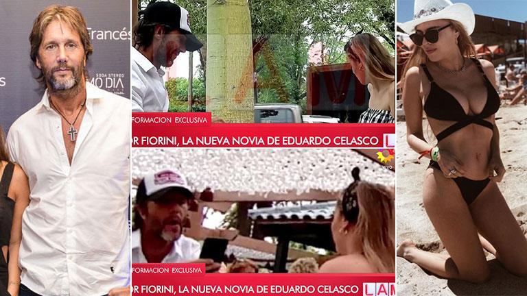 Las fotos de Eduardo Celasco, de novio con una cantante 25 años más joven
