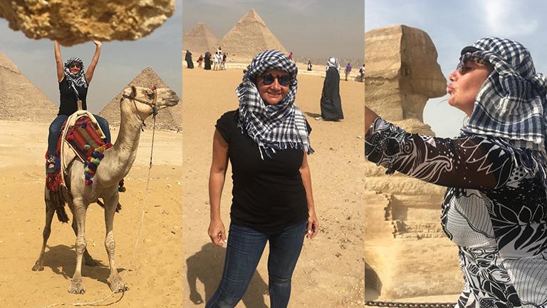 Nancy Pazos, feliz en Egipto