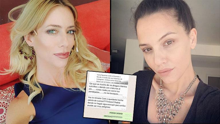 El escandaloso chat de Nicole Neumann a Ivana Figueiras