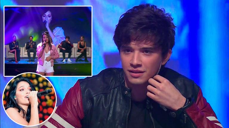 La reacción de Julián Serrano al ser sorprendido en vivo con la imitación de Oriana