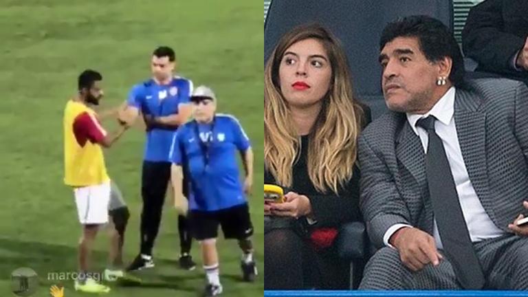Diego Maradona entrenó en Dubai