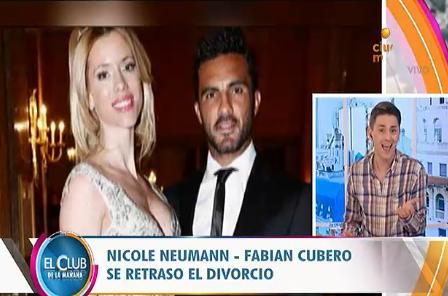 Se retrasó el divorcio de Nicole Neumann y Fabián Cubero